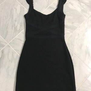 Black Fitted Strapless Going-Out Mini Dress